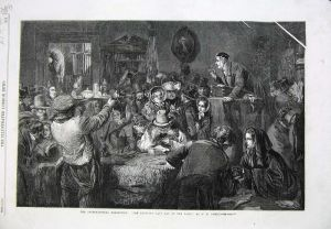 Antique Auction Print