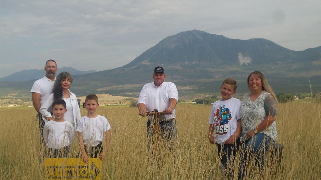 Paonia Mountains behind the North Fork Auction Family and Staff - Western Colorado Auctions