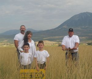 Paonia Mountains behind the North Fork Auction Family